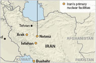 Iran's Primary Nuclear Facilities
