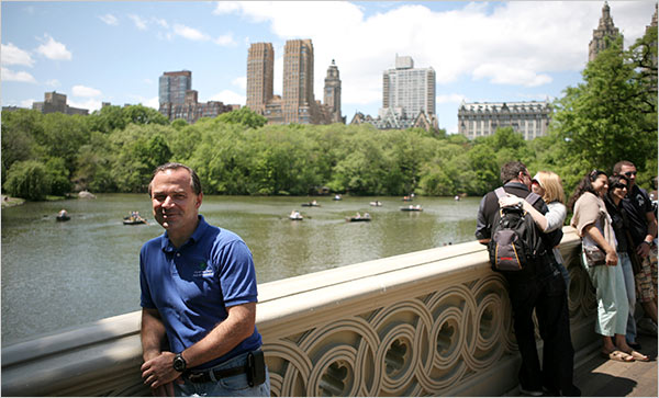 Portrait of parks commissioner Adrian Benepe courtesy NY Times