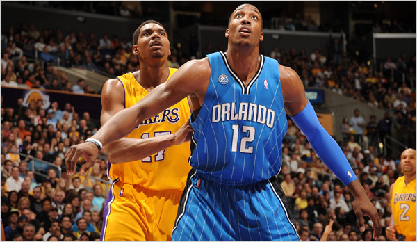 Come on Dwight, get a rebound. The Lakers wont win if you outrebound them all.