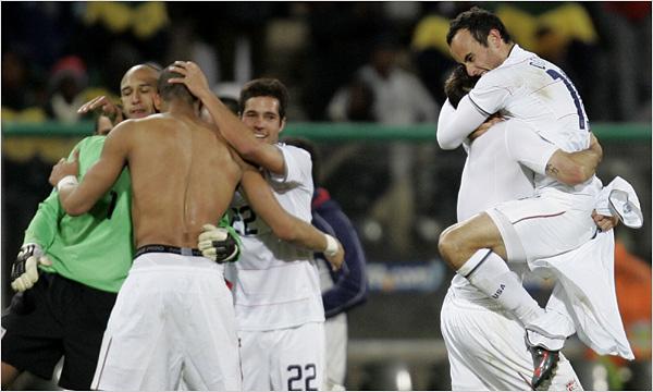 U.S. celebrates victory over Spain