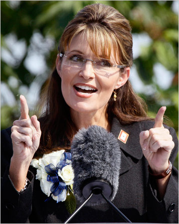 Palin's Farewell Includes Parting Shots
