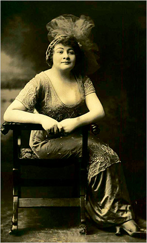 Sophia Tucker, the Red Hot Mama, in 1912