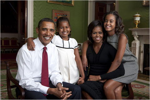 The Obama family portrait, released by the White House.