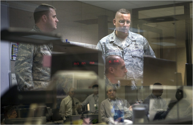Airmen in air-conditioned rooms