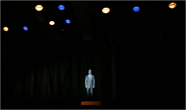 Todd Heisler/The New York Times - A scene from Richard Maxwells Ads at Performance Space 122.