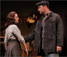 "Scarlett Johansson and Liev Schreiber in the Broadway revival of Arthur Miller's ""A View From the Bridge."""