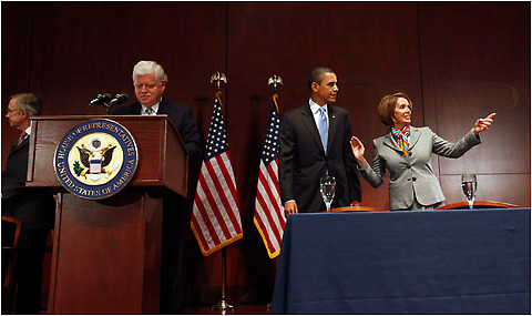President Barack Obama met with House Democrats on Capitol Hill to discuss health insurance reform legislation, Saturday, March 20, 2010 in Washington