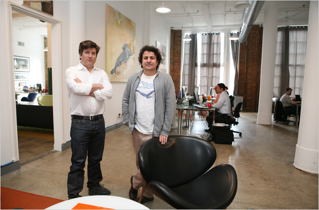 John Borthwick, left, and Andrew Weissman founded Betaworks to capitalize on new Web tools.