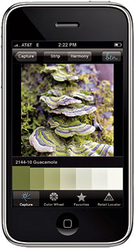 Benjamin Moore Smartphone Paint Application.