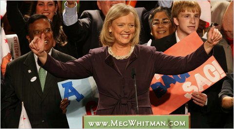 Meg Whitman prevailed in the California G.O.P. primary for  governor.