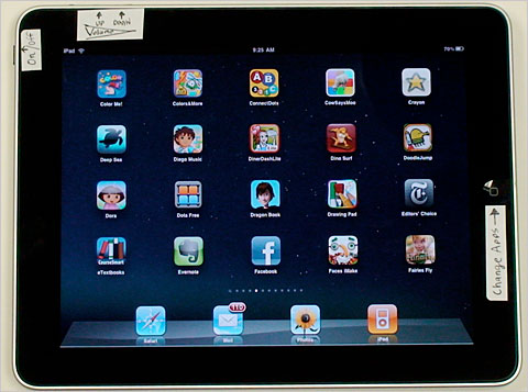 iPad with Training Wheels