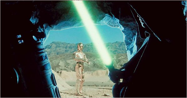 "A deleted scene from ""Star Wars,"" the first of the series' live-action films, coming to Blu-ray."