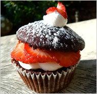 Chocolate Strawberry Shortcake Cupcake