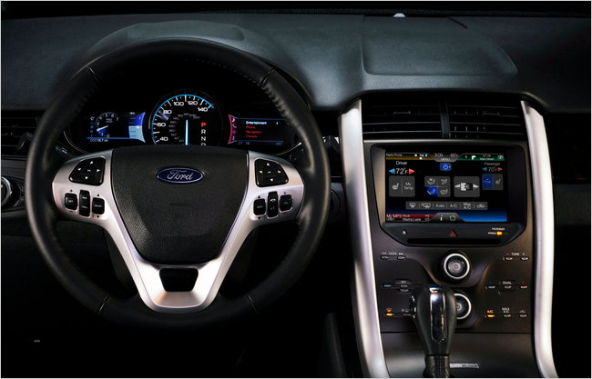 Dashboard controls in the redesigned Ford Edge