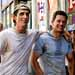 Christian Bale, left, and Mark Wahlberg play brothers who are boxers in