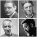 Clockwise from top left: Oscar Wilde, T. S. Eliot, Matthew Arnold, Randall Jarrell, Lionel Trilling and Walt Whitman.