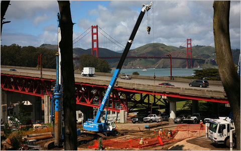 Improving the existing transportation infrastructure can create jobs and increase productivity, studies have found. Construction began last year to replace Doyle Drive, which carries commuters between the Golden Gate Bridge and San Francisco.