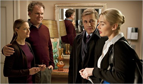 From left, Jodie Foster, John C. Reilly, Christoph Waltz and Kate Winslet in