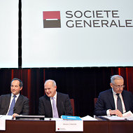 Michel Péretié, right, the head of Société Générale's corporate and investment banking division.