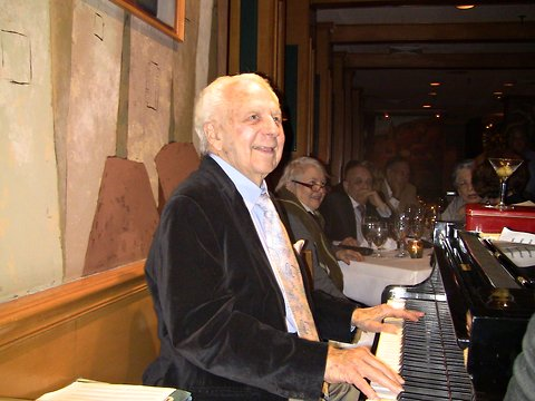 Irving Fields, 96, at Nino's Tuscany in Manhattan, has been playing piano since the 1920s.