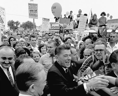 Ronald Reagan campaigned for governor on Nov. 5, 1966 in<br /><br /> Hawthorne, Calif.,