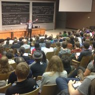 Jonathan Zittrain giving a keynote speech at ROFLCon on Friday.