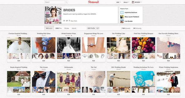 Brides magazine site on Pinterest.