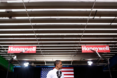 President Obama delivered a speech on the monthly job report on Friday at a factory in Golden Valley, Minn.