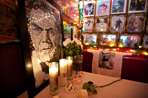 Ernest Borgnine memorial at Tortilla Flats NYC