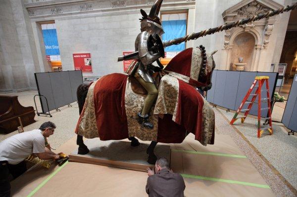 Installing 16th-century Armor Met Museum