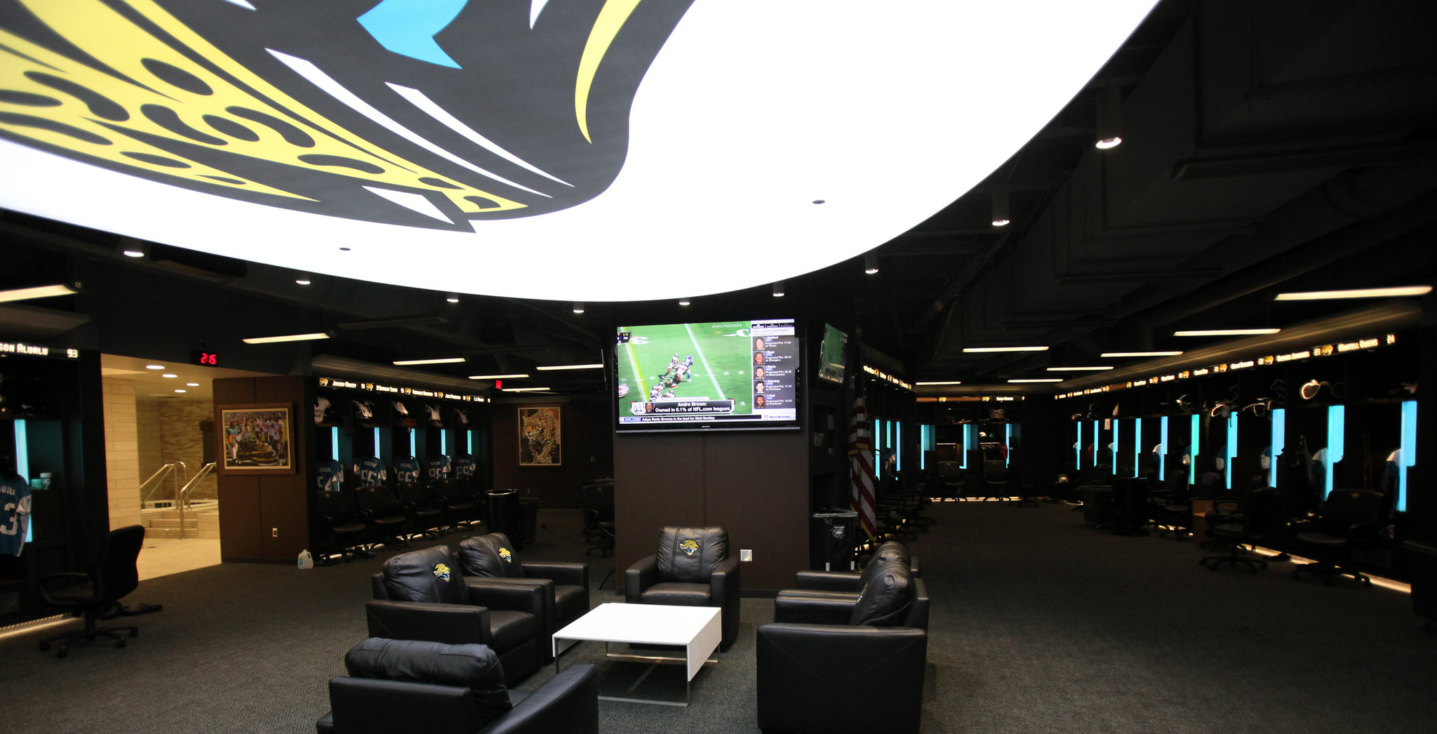 soccer team chairs frozen table and chair set jaguars hope luxurious locker room will overhaul image - the new york times