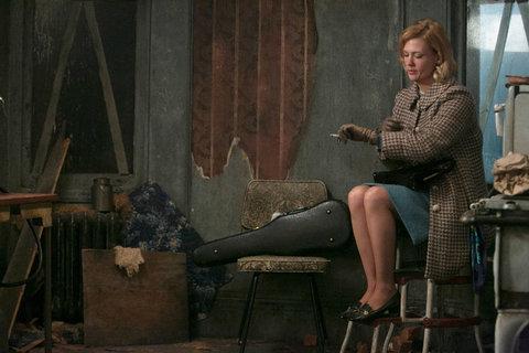 Betty Draper (January Jones) in an East Village scene from Sunday's