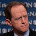 Senators Patrick J. Toomey, left, a Republican, and Joe Manchin III, a Democrat, appeared on