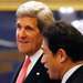 Secretary of State John Kerry arrived with Japan's Foreign Minister Fumio Kishida at a meeting in Tokyo.