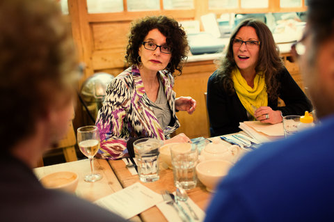 Nancy Gershman, left, and Audrey Pellicano, who hosts the New York Death Cafe. The fifth meeting will be held on Wednesday.