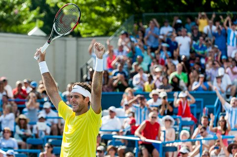 Juan Martin Del Potro after defeating John Isner 3-6, 6-1, 6-2 in the Citi Open final on Sunday.
