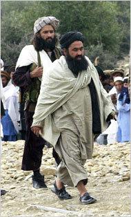 Baitullah Mehsud, right, in 2004 in South Waziristan.