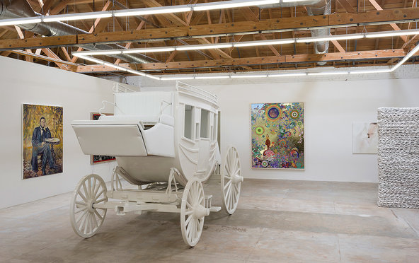 Gavlak Gallery's new Los Angeles space is exhibiting works by (from left) Keith Mayerson, Vincent Szarek, Jose Alvarez (D.O.P.A.), Judith Eisler and Orly Genger.