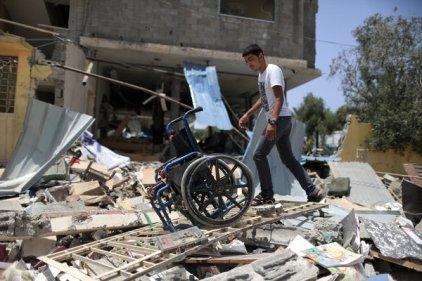 gaza rehab center bombing