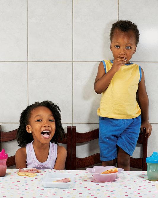 <p>Aricia Domenica Ferreira, 4 years old, and</p><p>Hakim Jorge Ferreira Gomes, 2 years old, São Paulo, Brazil</p>