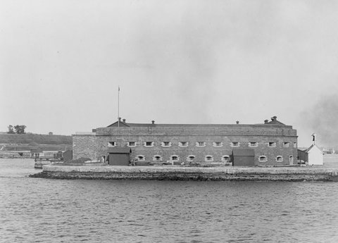 Fort Lafayette in New York Harbor, where Robert C. Kennedy was executed.