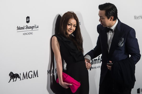 Leung Chai-yan, the daughter of the Hong Kong chief executive, Leung Chun-ying, on Saturday at the amfAR gala for AIDS research.