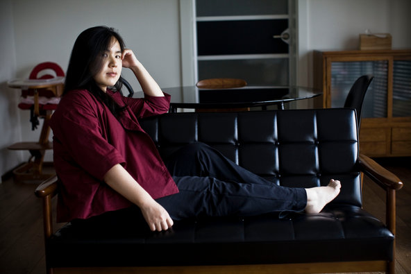 The artist Cao Fei at home in Beijing.
