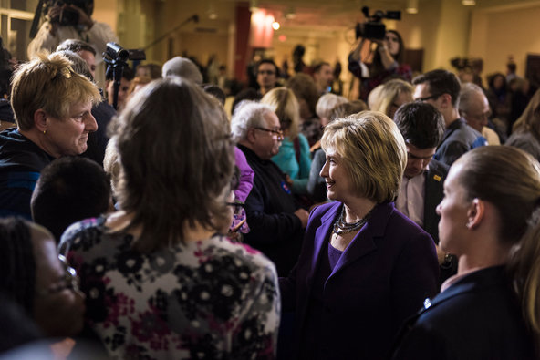 Hillary Rodham Clinton attended a campaign event at Windham High School in New Hampshire last week.
