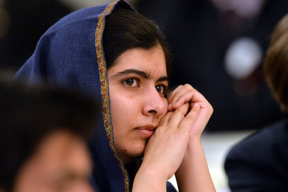 Malala Yousafzai in Birmingham, England, on Monday.
