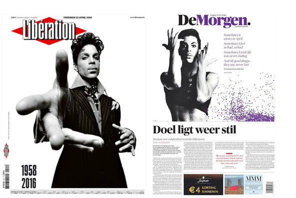 "The French daily <a href=""http://www.liberation.fr"">Libération</a> and the Belgian <a href=""http://www.demorgen.be"">De Morgen</a>. <br /><br />"