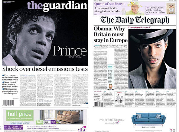 "The British newspapers <a href=""http://www.theguardian.com/uk"">The Guardian</a> and <a href=""http://www.telegraph.co.uk/"">The Daily Telegraph</a>."