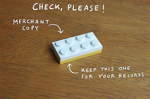 I LEGO N.Y. check please