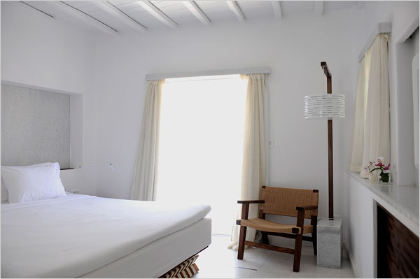 Nestled against a hill overlooking Mykonos Town is the Belvedere Hotel, the gold standard of Myconian chic.