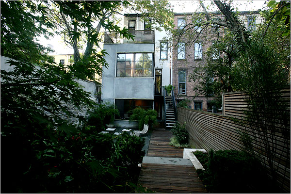 Rethinking a brownstones backyard